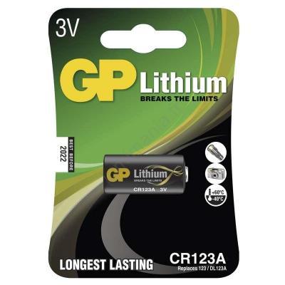 Pile GP Lithium CR123A