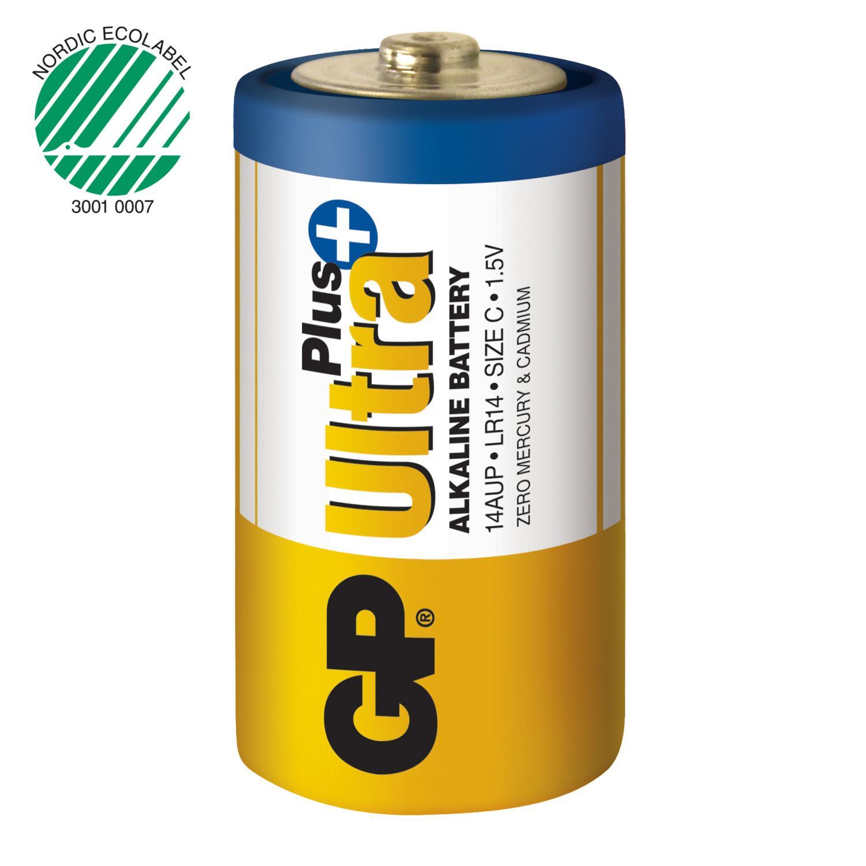 Piles alcaline type c lr14 gp ultra plus lot de 2 ref m190 1