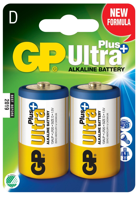 Piles alcaline type d lr20 gp ultra lot de 2 ref m191 1