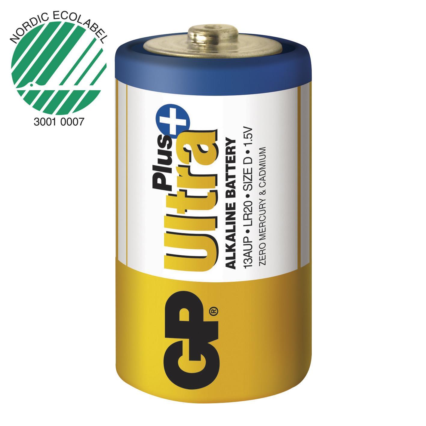 Piles alcaline type d lr20 gp ultra lot de 2 ref m191 3